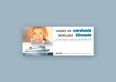 Ideazione del banner pubblicitario per Tirrenia di navigazione