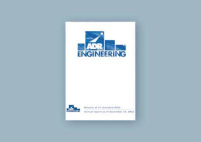Ideazione grafica della copertina del Bilancio per Aeroporti di Roma Engineering