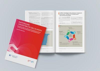 Impaginazione grafica del rapporto Enel per il Forum Ambrosetti