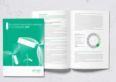 Impaginazione grafica del bilancio aziendale di Enel Green Power