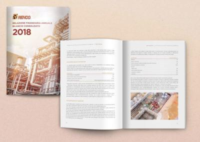 Progetto grafico e impaginazione del bilancio aziendale di Renco spa