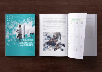 Progetto grafico e impaginazione del bilancio aziendale di iFaber del Gruppo Unicredit