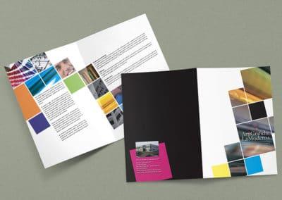 Ideazione grafica della brochure per la tipografica Arti Grafiche La Moderna