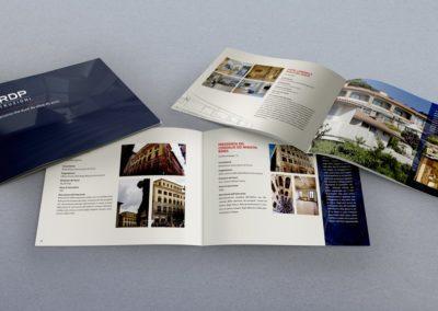 Progetto grafico e realizzazione della brochure per l'impresa edile RDP