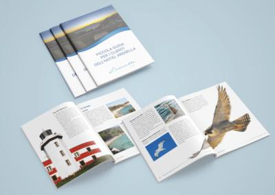 Progetto e realizzazione grafica del catalogo per l'albergo Arenella all'isola del Giglio