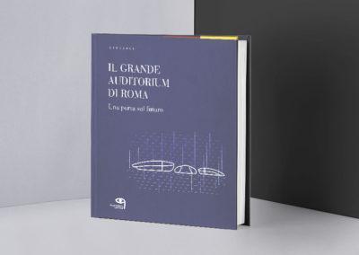 Impaginazione del volume sulla costruzione dell'Auditorium di Roma, Tiellemedia editore