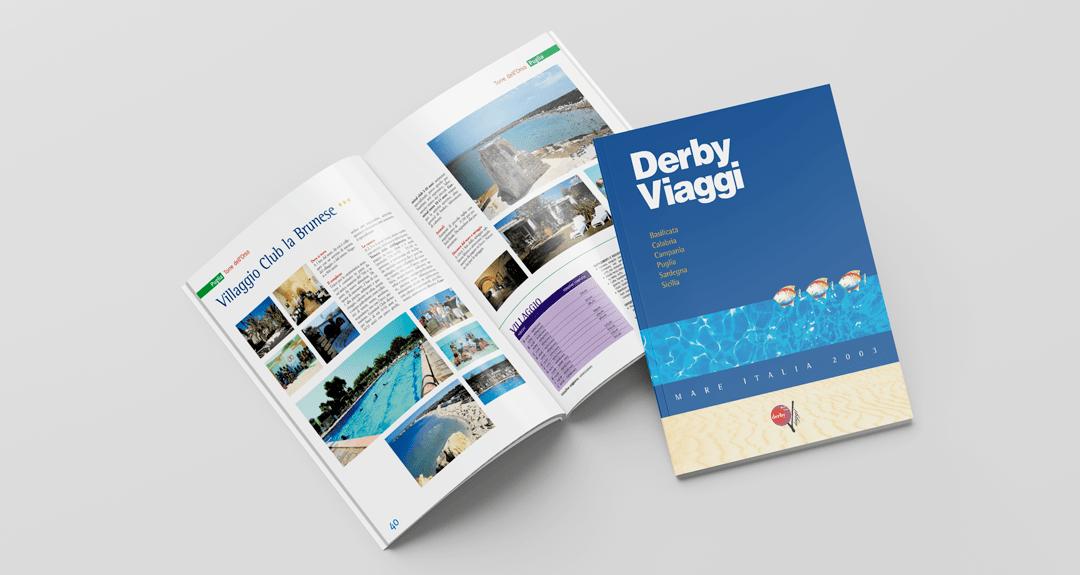Progetto e realizzazione grafica del catalogo di viaggi per Derby Viaggi