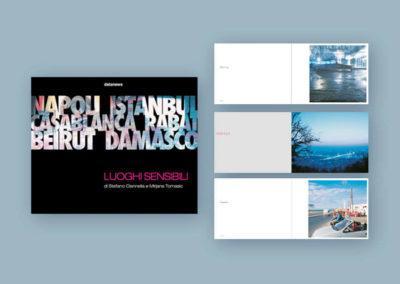 Impaginazione del catalogo d'arte del fotografo Stefano Cannella per Datanews edizioni