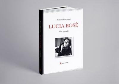 """Ideazione grafica della copertina del libro """"Lucia Bosé"""" per Edizioni Sabinae"""