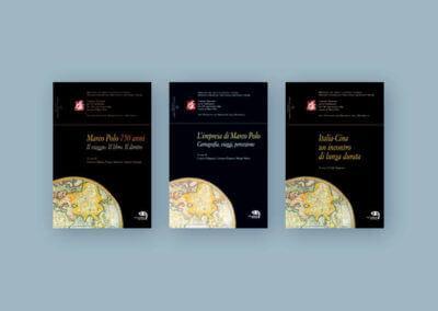 Ideazione grafica delle copertine per la collana di libri per i 750 anni dalla nascita di Marco Polo