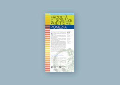 Ideazione della grafica e del testo per la locandina per la Facoltà di Scienze Politiche di Pomezia