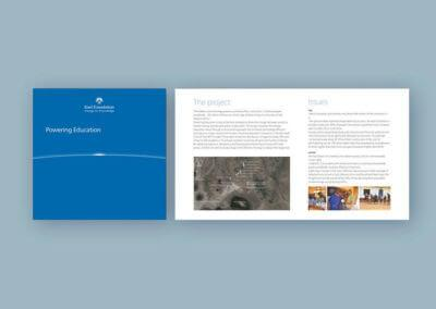 Ideazione grafica della brochure per la Fondazione Enel