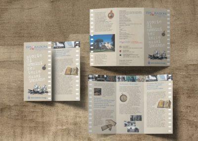 """Ideazione grafica della brochure per la rassegna cinematografica organizzata dalla Società Geografica Italiana """"Esplorazioni"""""""