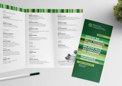 Ideazione grafica del depliant per il Convegno sull'analisi e l'applicabilità delle tecniche di ingegneria naturalistica