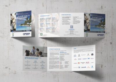 """Ideazione grafica e realizzazione della brochure per il Master di Uninform """"Tourism Quality Management"""""""
