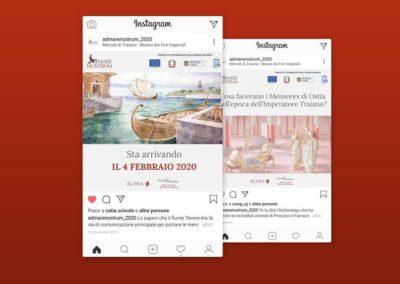 Ideazione grafica e realizzazione dei post per la mostra Mare Nostrum