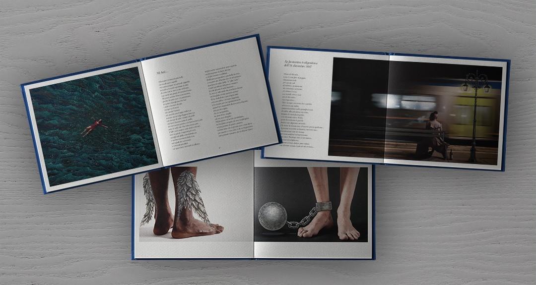 Progetto grafico e impaginazione del libro di poesie di Antonella Albano
