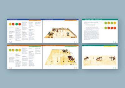 """Impaginazione del libro di giochi per ragazzi """"Pony Games"""""""