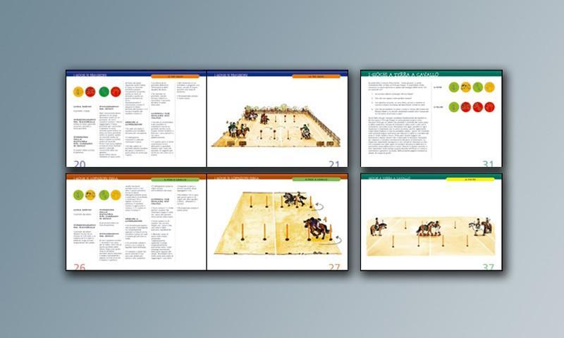 Progetto grafico e impaginazione del libro Pony Games, giochi per ragazzi