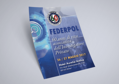 Ideazione grafica della locandina celebrativa per i 60 anni di Federpol, Federazione di investigatori privati