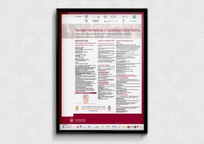 Impaginazione grafica della locandina per il Convegno Internazionale di Suicidologia e Salute Pubblica