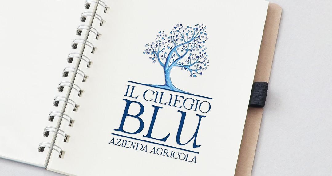 Ideazione del logo per l'agriturismo Il Ciliegio Blu
