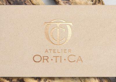 Ideazione del logo per l'atelier Ortica