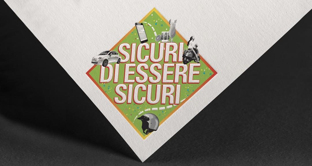 """Ideazioni grafica del logo per la campagna """"Sicuri di essere Sicuri"""""""
