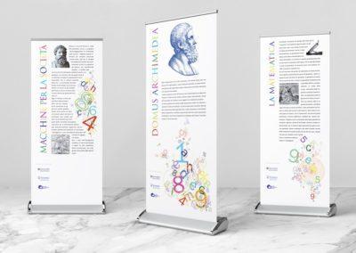 Ideazione grafica e realizzazione dei Roll up per la mostra Domus Archimedea