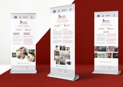 Ideazione grafica e realizzazione dei Roll up per la mostra Mare Nostrum