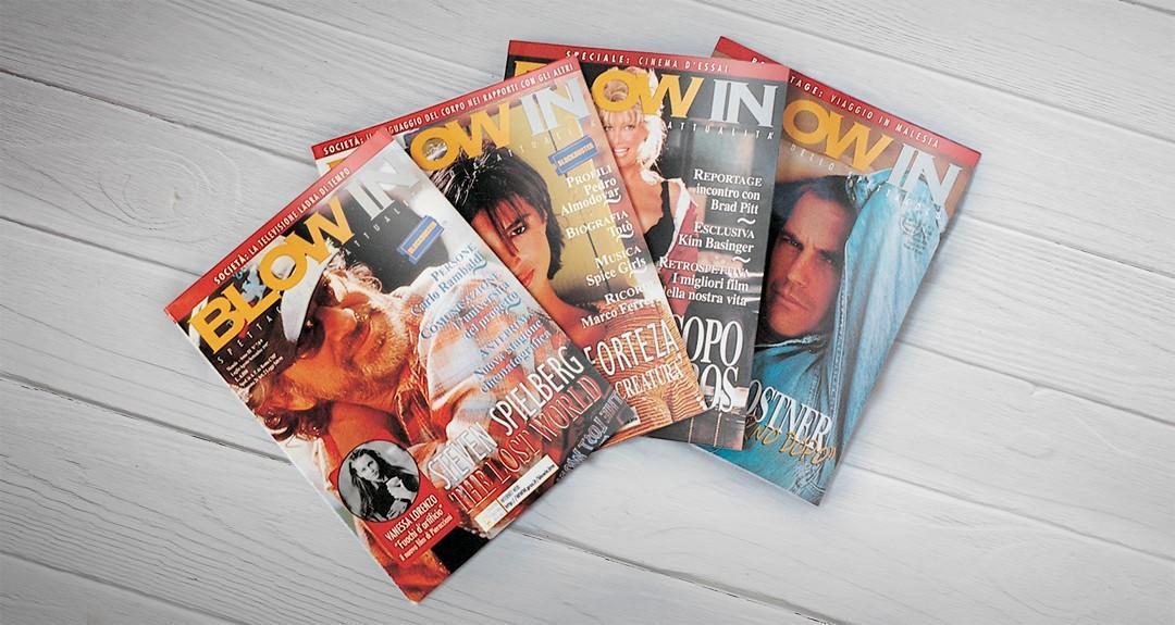 Impaginazione della rivista di cinema Blow In, edizioni Casting News