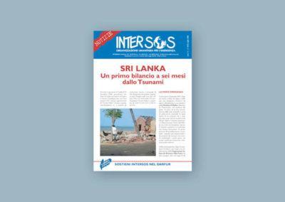 Impaginazione della rivista bimestrale per la ONG intersos