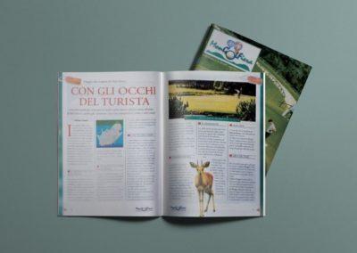 Progetto grafico e impaginazione della rivista MonGolfiera, rivista di golf