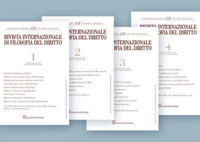 Impaginazione della Rivista Internazionale di Filosofia del Diritto per Giuffé editore