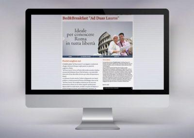 Web design e realizzazione del sito per la casa vacanze Ad Duas Lauros