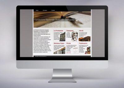 Web design e realizzazione del sito per la Fondazione Nazionale Giuseppe Capograssi