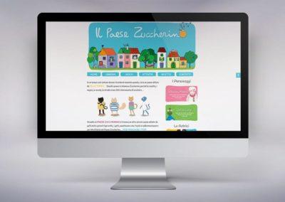 Web design e realizzazione del sito Il Paese Zuccherino, sito dedicato ai bambini più piccoli