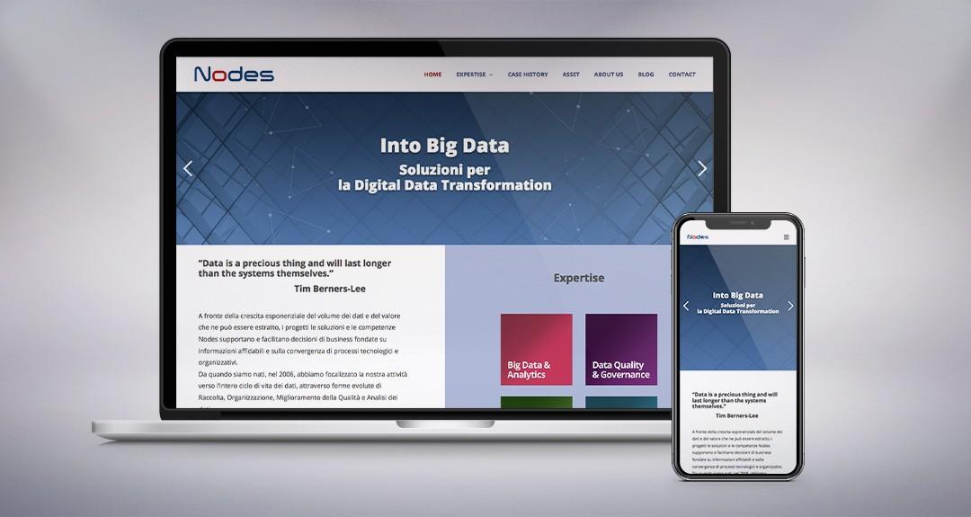 Web design, architettura e studio della user experience per il sito di Nodes, società che si occupa di big data