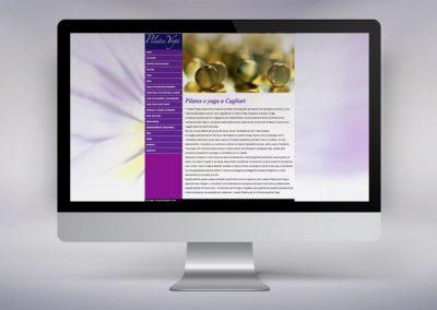Web design e realizzazione del sito per un'associazione di Pilates e Yoga a Cagliari
