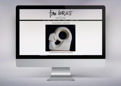Web design e realizzazione del sito dell'artista Pino Corati