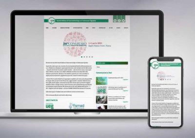 Web design, architettura e studio della user experience per il sito SIGE, Società italiana di Gastroenterologia ed Endoscopia digestiva