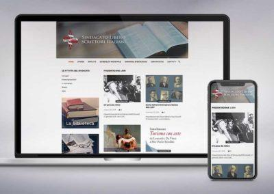 Web design e realizzazione del sito dello del Sindacato Libero Scrittori Italiani
