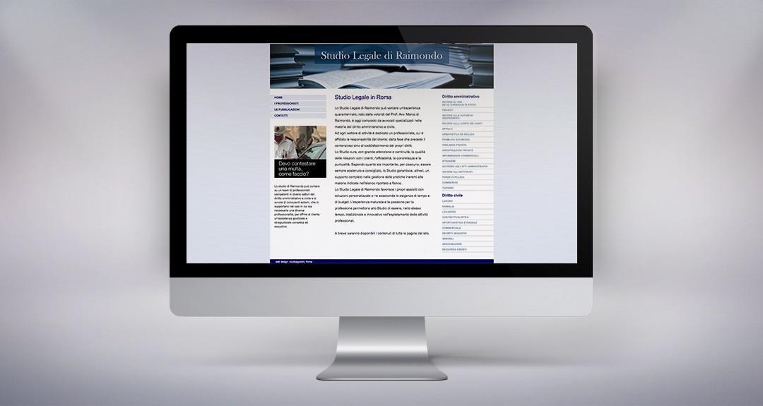 Web design e realizzazione del sito dello studio legale Di Raimondo