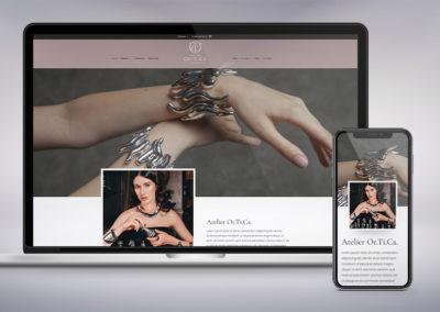 Progettazione grafica e realizzazione tecnica del sito di e-commerce per l'oreficeria Atelier Or.ti.Ca.